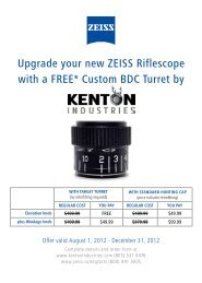 Upgrade your new ZEISS Riflescope with a ... - Sports South, LLC