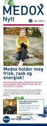 Medox holder meg frisk, rask og energisk! vervepremier Nye