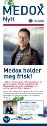 Medox holder meg frisk! vervepremier Nye