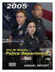 2005 Annual Report - City of Downey