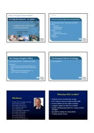 What has ESU to offer? - European Association of Urology