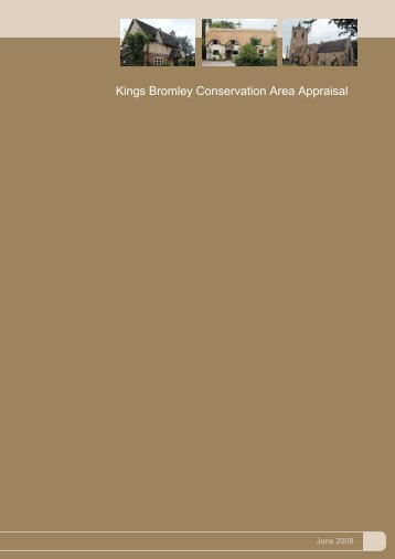 Kings Bromley Conservation Area Appraisal - Lichfield District Council