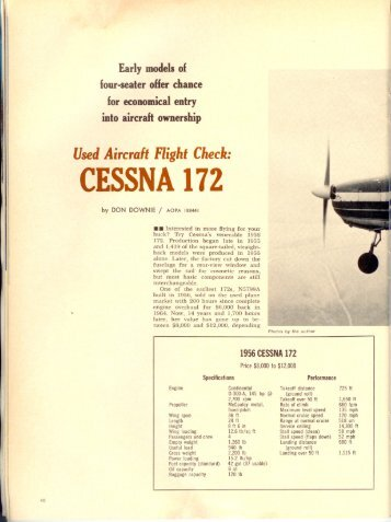 1959 Cessna 172 owners Manual