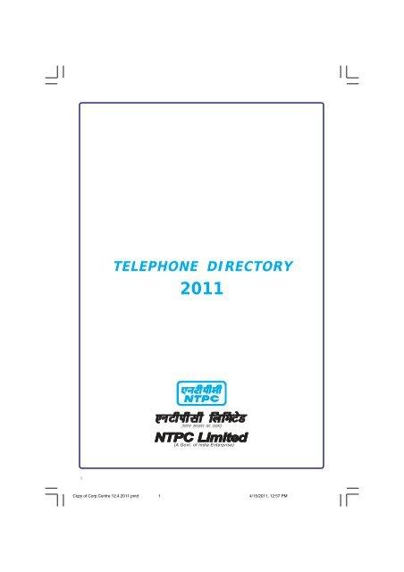 Telephone directory 2011 - Ntpc