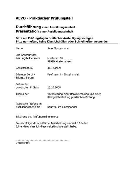 Unterweisungsentwurf Muster Pdf Free Download 8