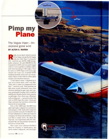 Pimp my Plane - Aero Resources Inc