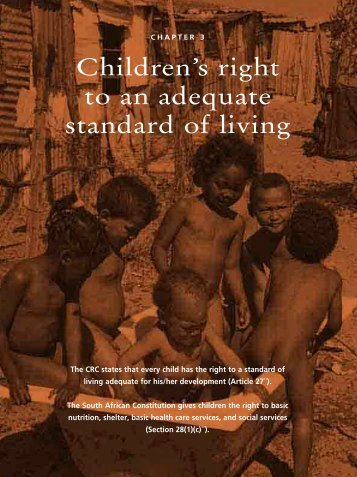 C h i l d re n 's right to an adequate s t a n d a rd of living - Children's ...