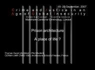 Prison architecture A place of life ? - Ouard Thomas Architecte