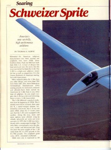Schweizer Sprite - Aero Resources Inc