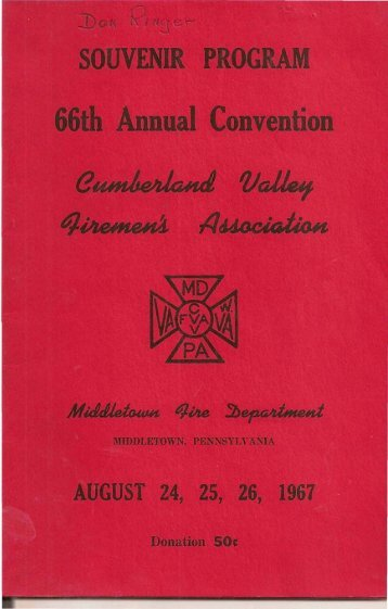 66th Annual Convention - My FireCompanies.com