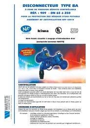 COMMERCIALE 909 65 à 250 - Watts Industries