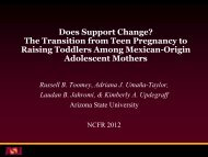 Does Support Change? - National Council on Family Relations