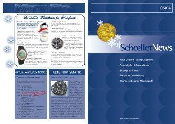 SchoellerNews - Schoeller Münzhandel