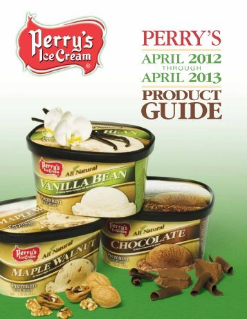 product guide contents - Perry's Ice Cream