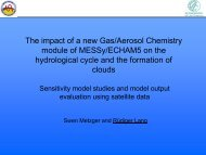 The impact of a new Gas/Aerosol Chemistry module of ... - AeroCom