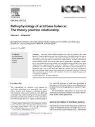 Pathophysiology of acid base balance: The theory ... - ferronfred.eu