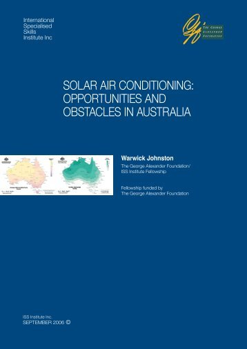 solar air conditioning - International Specialised Skills Institute