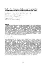 Study of the vibro-acoustic behaviour of composite sandwich ...