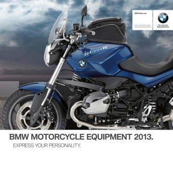 Motorcycle Accessories brochure - BMW Motorrad UK.