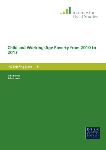 Child and Working-Age Poverty from 2010 to 2013 - The Institute For ...
