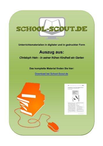 Heine Heinrich Abenddämmerung Interpretation School Scout