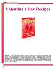 Valentines Recipes - Coming In The Clouds