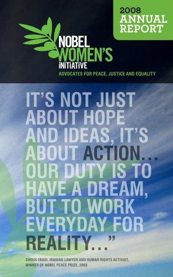 Nobel Women's Initiative Annual Report: 2008