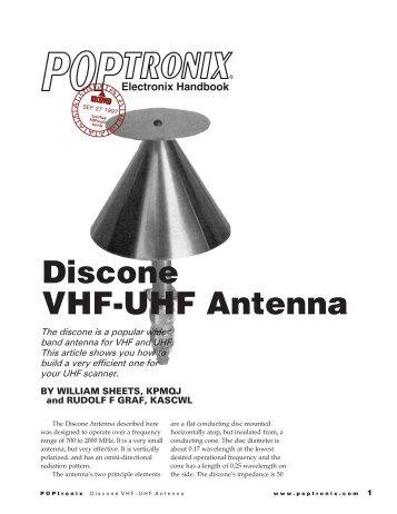 Dicone VHF-UHF Antenna - Educypedia
