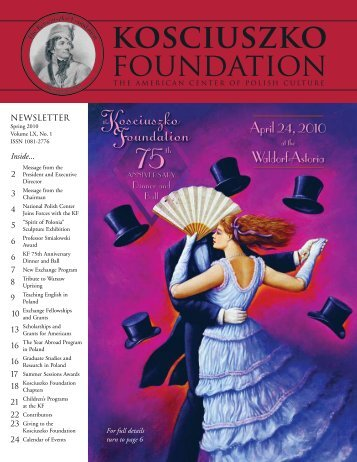 Spring 2010 - The Kosciuszko Foundation