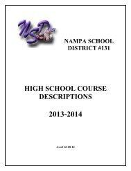 Course Catalog (PDF) - Nampa School District #131