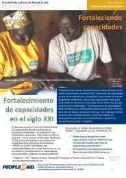 Fortaleciendo capacidades Fortalecimiento de ... - People In Aid