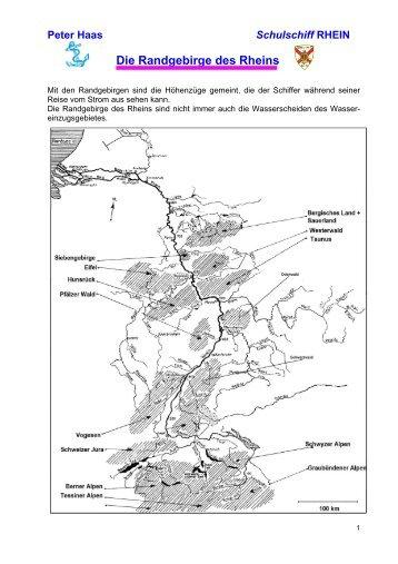 Peter Haas Schulschiff RHEIN - Die Randgebirge des Rheins