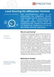 Was ist Lead Scoring? - H+W CONSULT GmbH