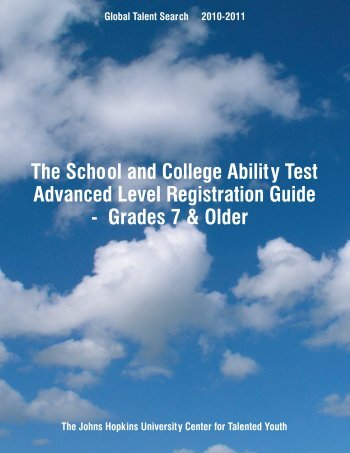test bulletin - Johns Hopkins Center for Talented Youth - Johns ...
