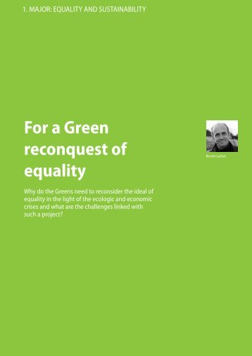 For a Green reconquest of equality - Green European Journal