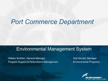 Port Commerce Department: Environmental Management System
