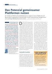 Das Potenzial gemeinsamer Plattformen nutzen (PDF, 712 ... - Zühlke