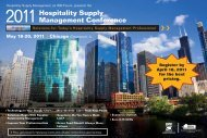 2011 Hospitality Supply Management Conference Brochure - PDF