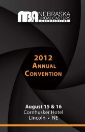 2012 Nebraska Broadcasters Annual Convention REGISTRATION ...