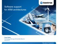 Software support for ARM architectures - ICC Media GmbH