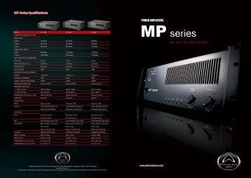 MP SERIES AMPLIFIERS Brochure - Wharfedale Pro