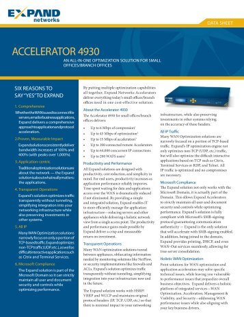 ACCELERATOR 4930 - Scunna Network Technologies