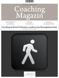 Coaching ist keine Profession, sondern eine Herangehensweise.