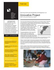 NWFP Community Infrastructure Project - WSP