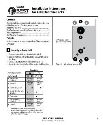 Boda 2926 lock case appro - Interior door installation instructions ...