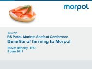 Morpol market share development in smoked salmon