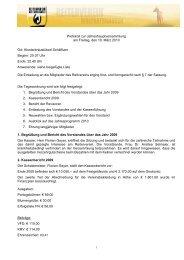 Protokoll - Reiterverein Wolfratshausen e.V.