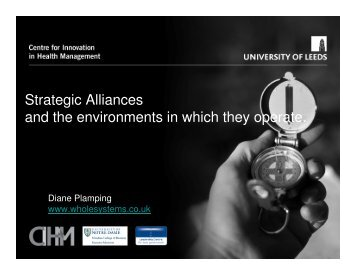 Strategic Alliances and the environments in which they operate.