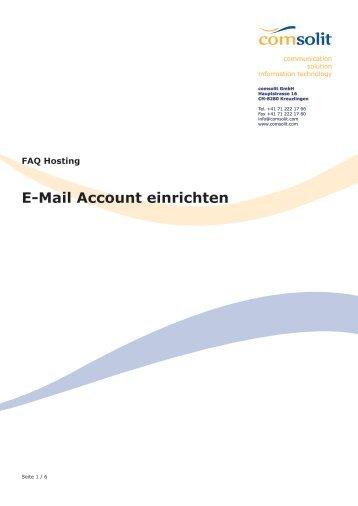 E-Mail Account einrichten
