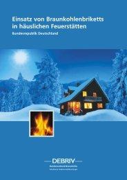 Einsatz von Braunkohlenbriketts in häuslichen Feuerstätten